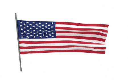 Illustration of a waving flag of The United States. 3d rendering. Stock fotó