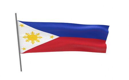 Illustration of a waving flag of Philippines. 3d rendering. Stock fotó