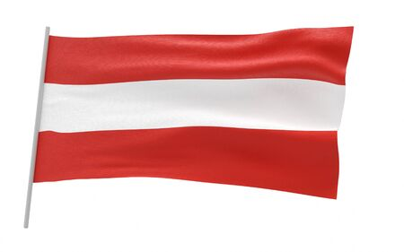 Illustration of a waving flag of Austria