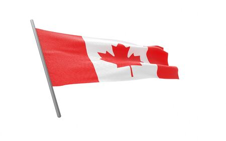 Illustration of a waving flag of Canada