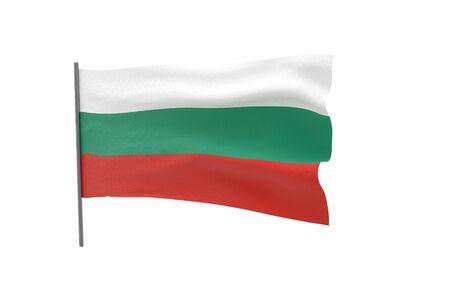 Illustration of a waving flag of Bulgaria