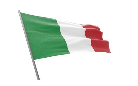Illustration of a waving flag of Italy. 3d rendering.