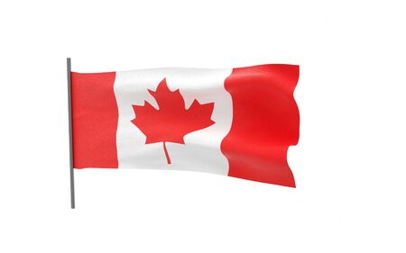 Illustration of a waving flag of Canada Stock fotó