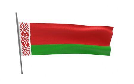 Illustration of a waving flag of Belarus Stock fotó