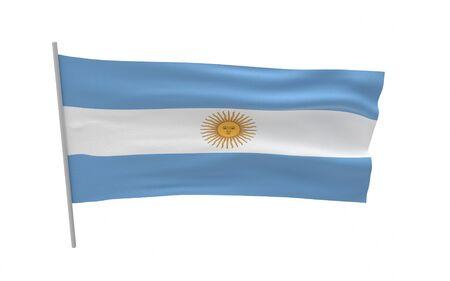 Illustration of a waving flag of Argentina Stock fotó