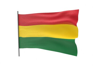 Illustration of a waving flag of Bolivia