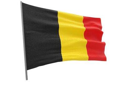 Illustration of a waving flag of Belgium
