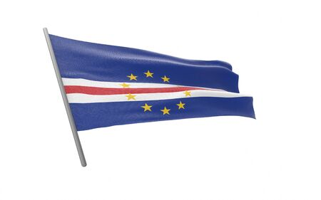 Illustration of a waving flag of Cape Verde