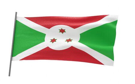 Illustration of a waving flag of Burundi Stock fotó