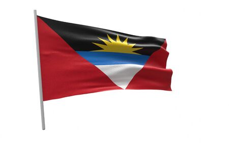 Illustration of a waving flag of Antigua and Barbuda Stock fotó