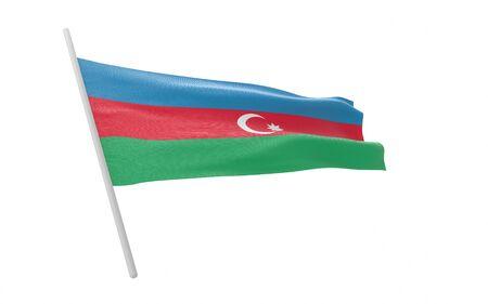 Illustration of a waving flag of Azerbaijan