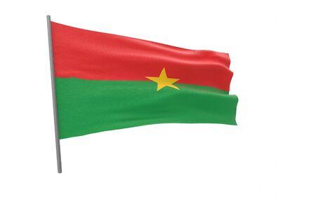Illustration of a waving flag of Burkina Faso