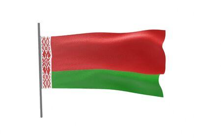 Illustration of a waving flag of Belarus
