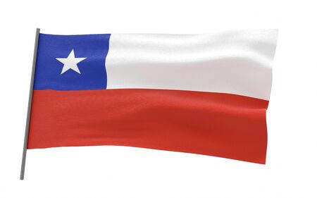 Illustration of a waving flag of Chile Standard-Bild