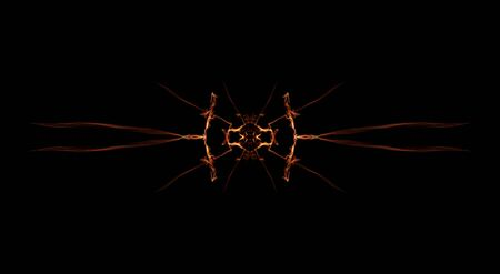 Flowers of Flames. Flower made by fire. Abstract pattern. Background. 3d rendering - illustration.