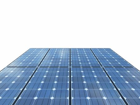 Isolated solar panels with white background. 3d rendering - illustration. Zdjęcie Seryjne