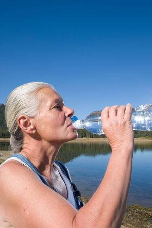 woman drinking Stock Photo