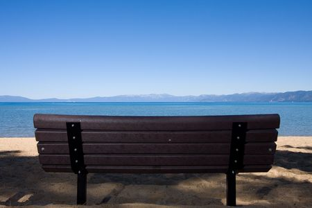 bench on beach Stock Photo - 3574648