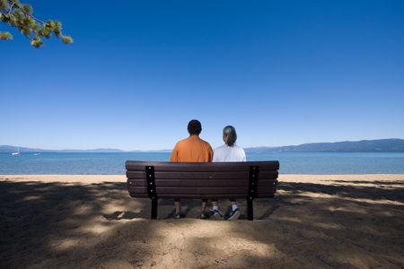 couple on bench Stock Photo - 3574652