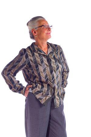 mature female businesswoman Stock Photo