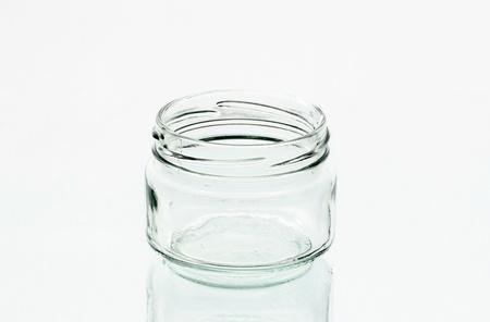 One glass jar