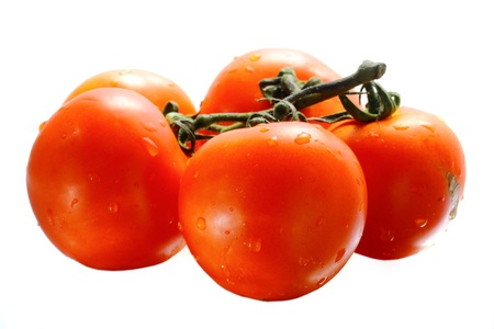 subtly: Five juicy tomatoes Stock Photo