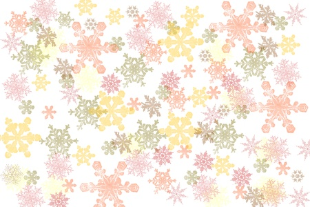 Many-colored Christmas snowflakes Stock Photo