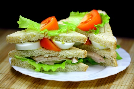Two tasty sandwiches
