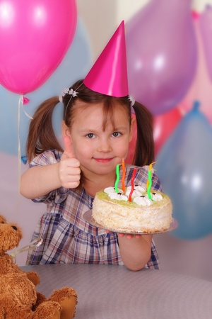 Wonderful little girl celebrates her Birthday photo
