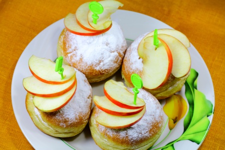 Buns with apples 003 Stock Photo