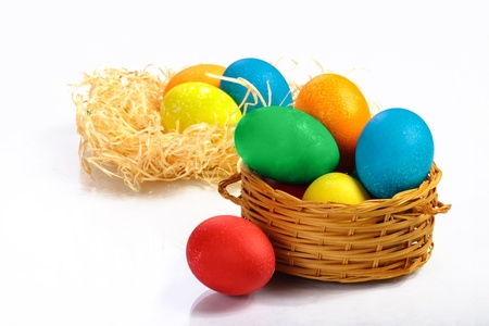 Many colored eggs for Easter holiday Stock Photo - 13414976