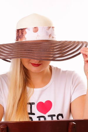 Pretty lady in a hat Stock Photo - 15891389