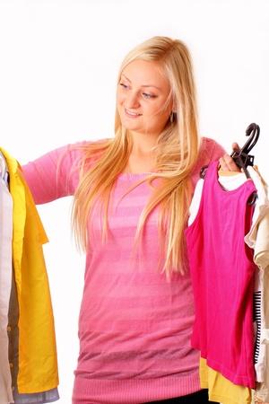 likes: Beautiful blonde woman likes shopping