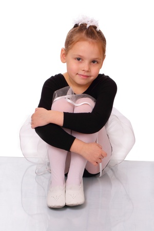 sincere girl: Attractive little ballerina girl