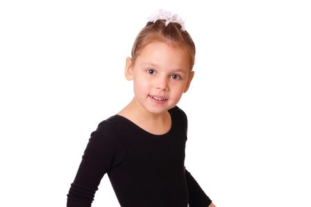 Smiling little ballerina girl photo