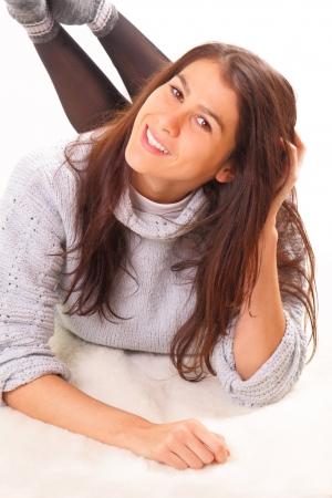 Beautiful young brunette woman Stock Photo - 16495054