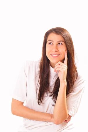 Joyful and attractive brunette woman Stock Photo - 16495044