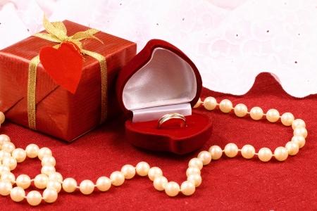 Beautiful gift for St  valentine Day celebration Stock Photo