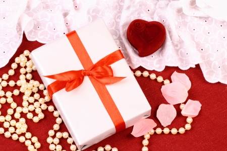 Beautiful gifts for St  Valentine Day Stock Photo - 17308545