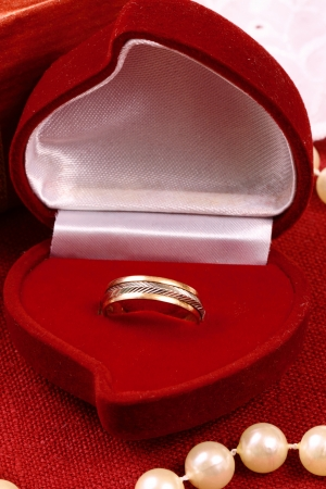 Beautiful ring for St  Valentine Day