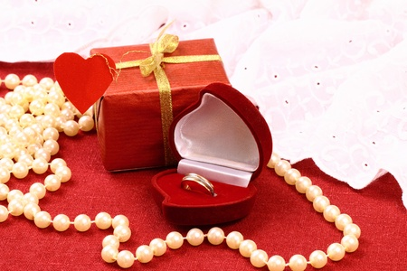 Gift for St  Valentine Day celebration Banque d'images