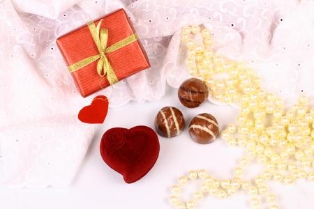st valentine: Regalos para el D�a de San Valent�n Foto de archivo