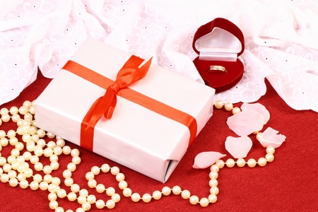 Wonderful gift for St  Valentine Day Stock Photo - 17308581