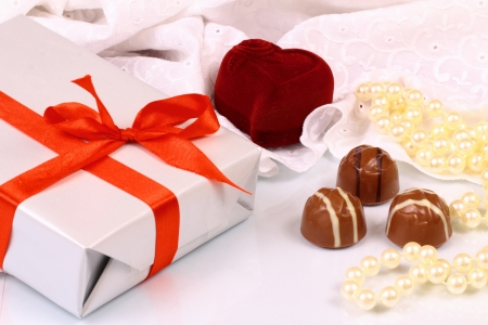 Wonderful gifts for St  Valentine Day Banque d'images