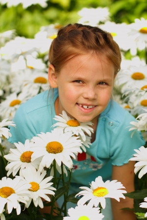 Pretty little girl outdoor Stock Photo