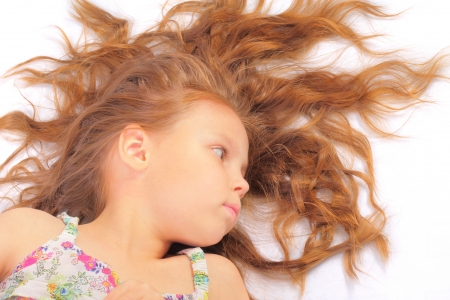 Calm little girl Stock Photo
