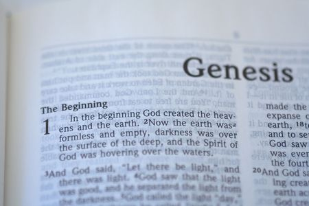 first page of genesis in the bible