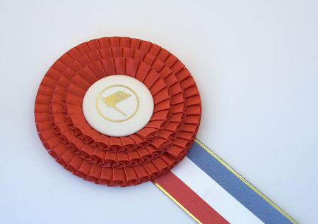 mention: it is always great to win the first place ribbon Stock Photo