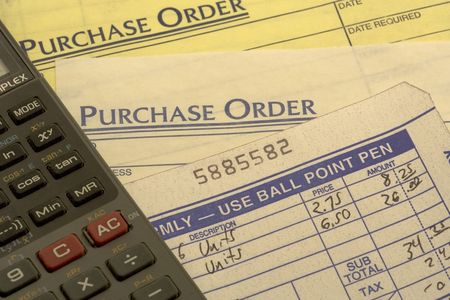 reciept: purchase orders and reciepts to add up the earnings for the day.