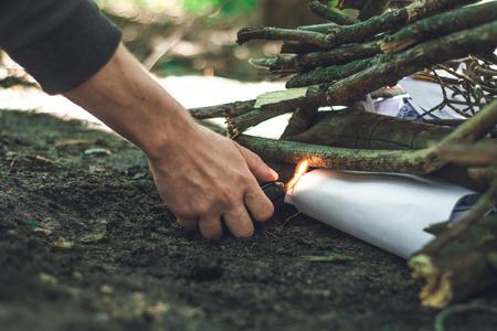 Making the Bonfire